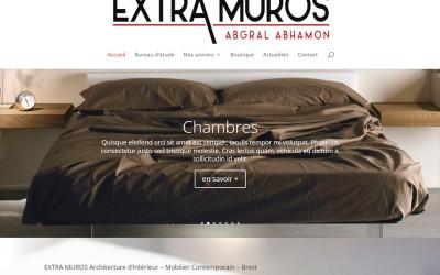 Refonte du site internet d'Extra-Muros (Abgrall-Abhamon) à Brest et Plougastel
