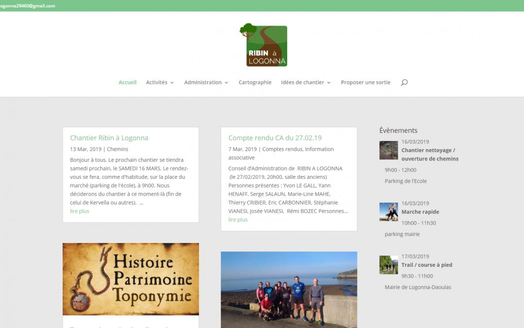 Refonte du site internet de l'association «Ribin à Logonna»
